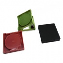 double side plastic square pocket mirror with smooth surface