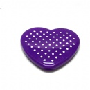 popular heart-shaped double sided plastic pocket mirror