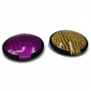 foldable round double sided plastic pocket mirror with rouble paint