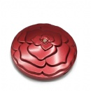 round double sided plastic pocket mirror with flower style